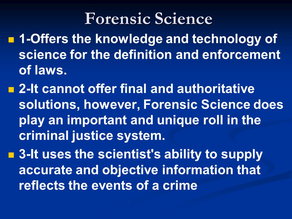 problems with forensic science The american academy of forensic sciences, the largest forensic science organization in the world, is composed of nearly 6,000 scientists organized into eleven.