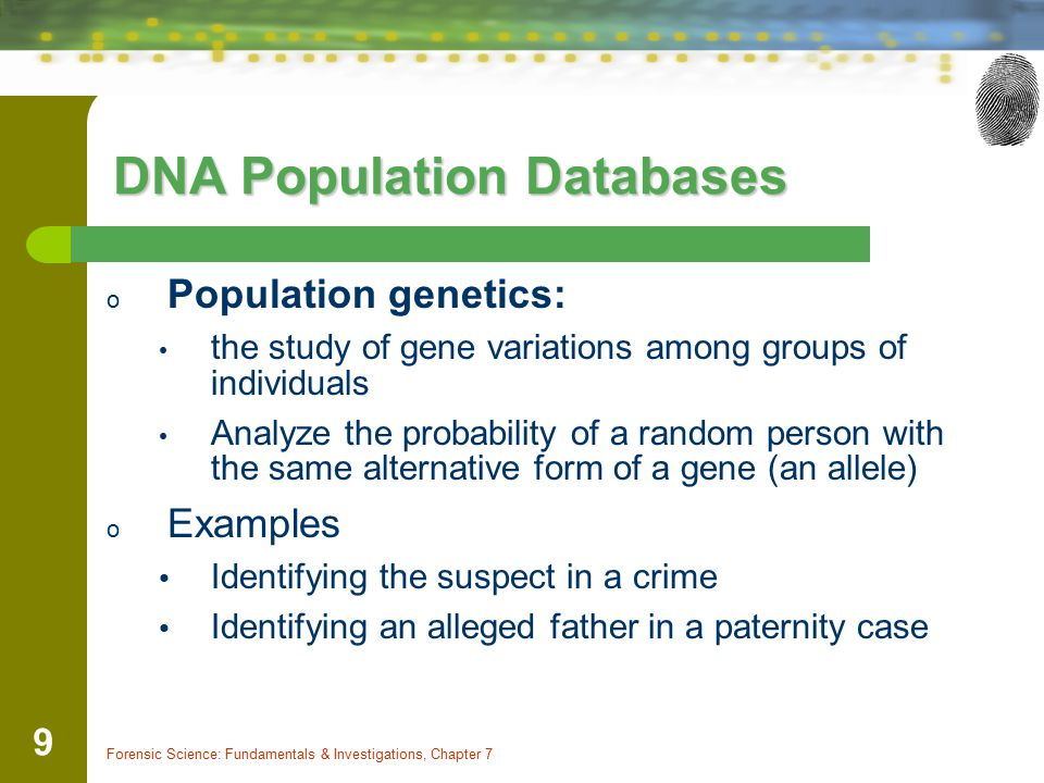 DNA Population Databases