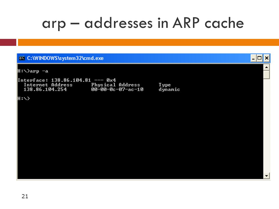 how to clear arp cache mac