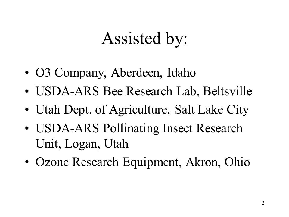 Assisted by: O3 Company, Aberdeen, Idaho
