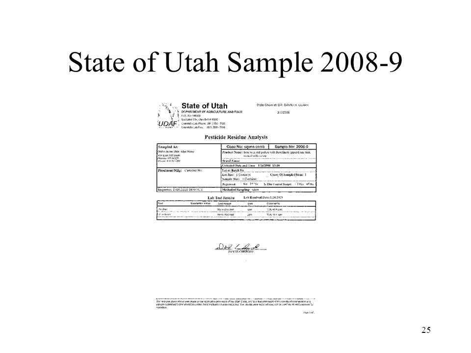 State of Utah Sample 2008-9