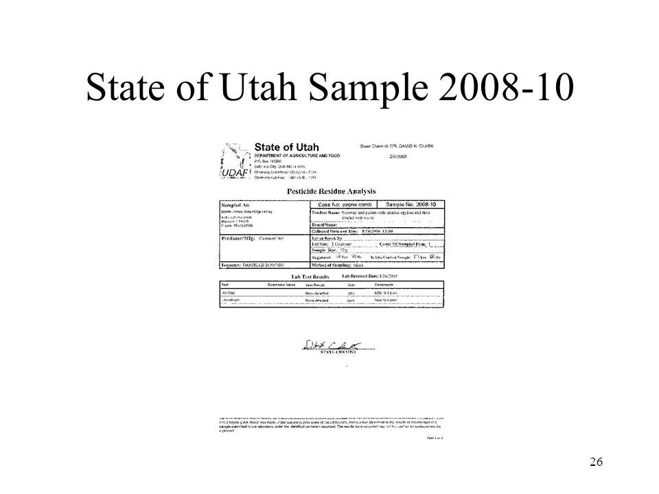 State of Utah Sample 2008-10