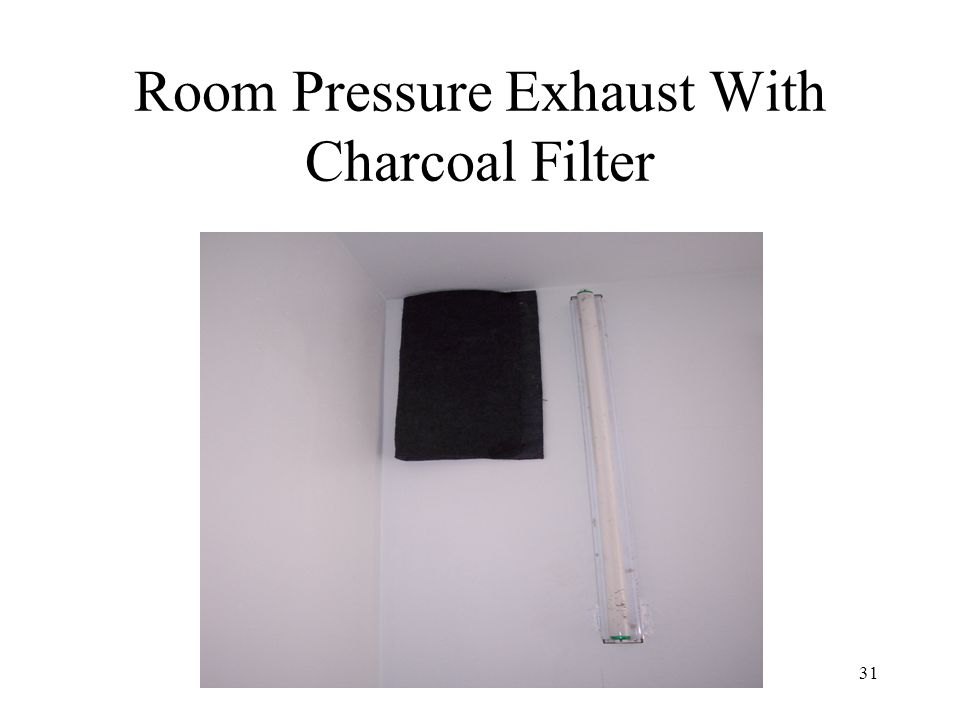 Room Pressure Exhaust With Charcoal Filter