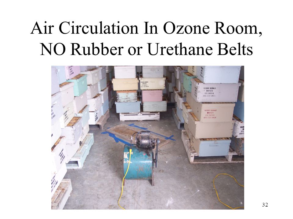 Air Circulation In Ozone Room, NO Rubber or Urethane Belts