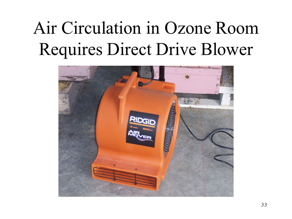 Air Circulation in Ozone Room Requires Direct Drive Blower