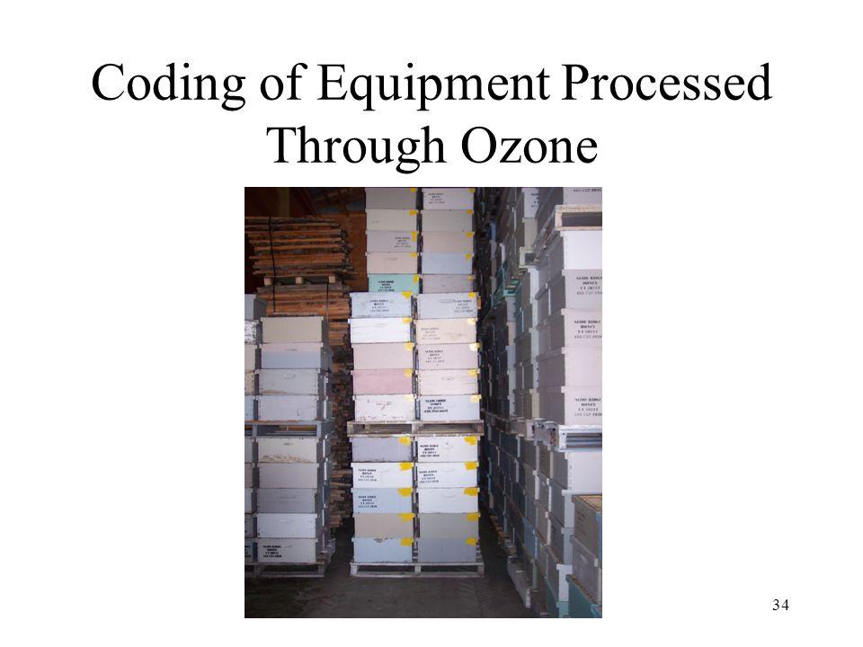 Coding of Equipment Processed Through Ozone