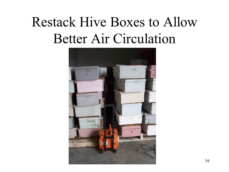 Restack Hive Boxes to Allow Better Air Circulation