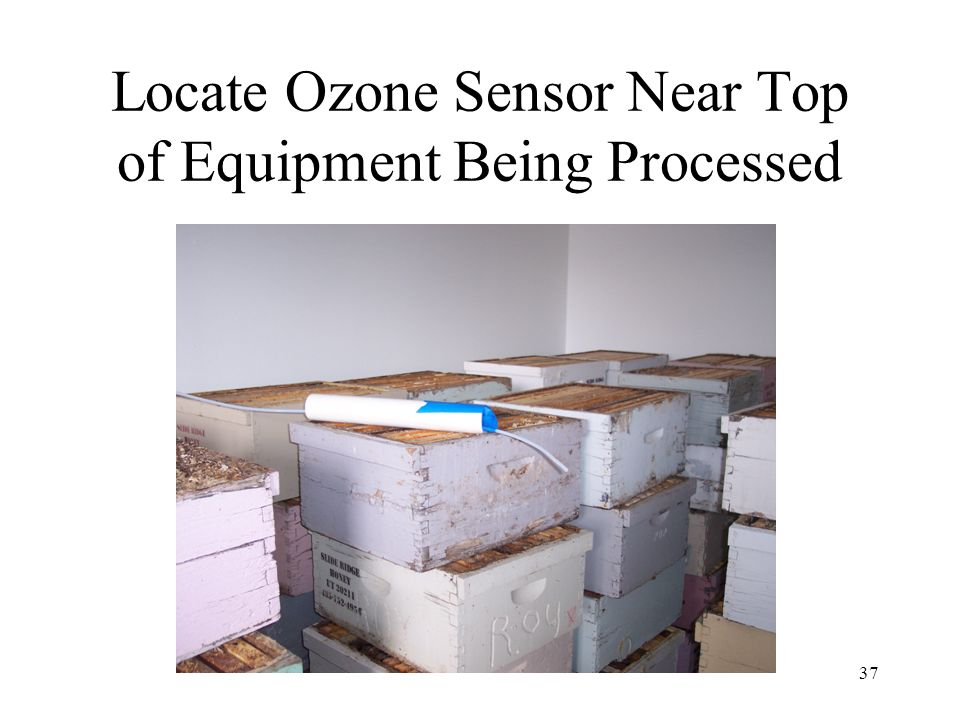 Locate Ozone Sensor Near Top of Equipment Being Processed