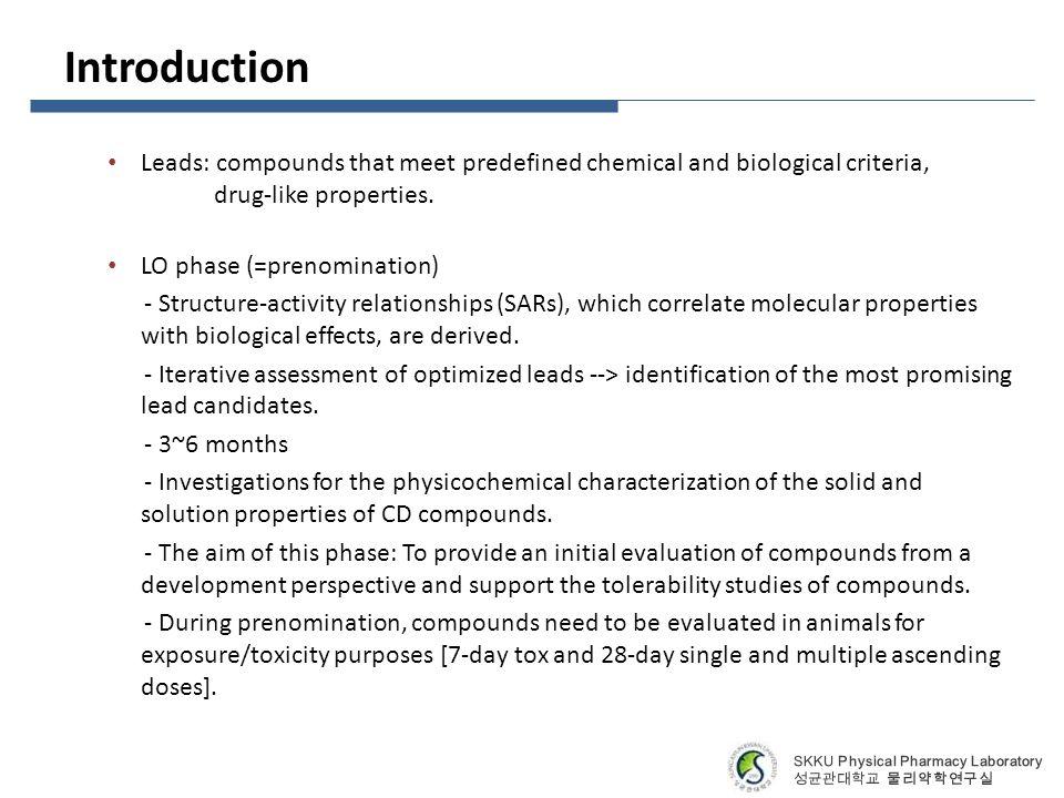 preformulation testing for chemical properties of drug Preformulation is the branch of  preformulation considerations is the investigation of physico-chemical properties of the new drug compound that.