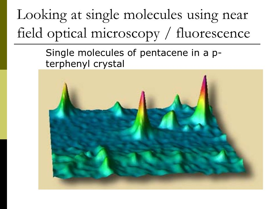 Looking at single molecules using near field optical microscopy / fluorescence