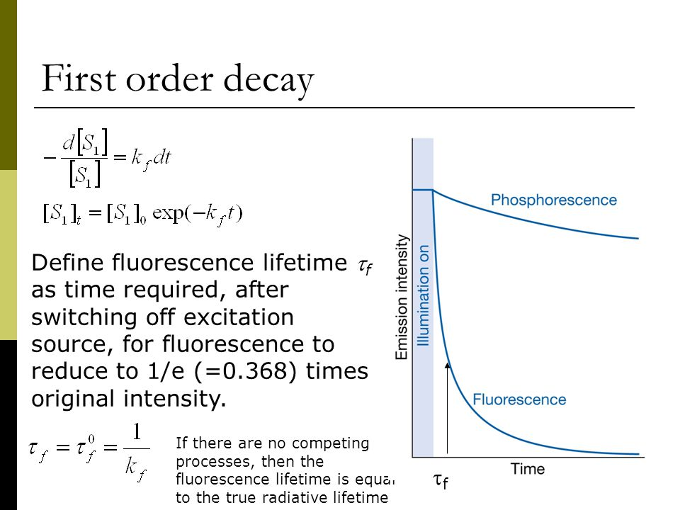 First order decay
