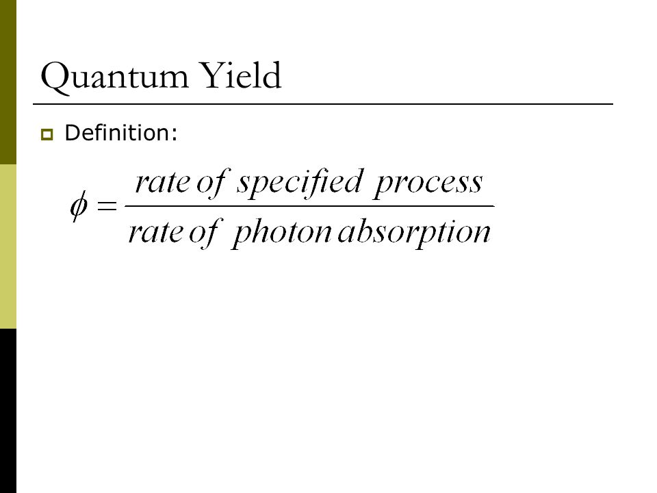 Quantum Yield Definition: