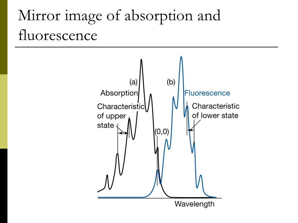 Mirror image of absorption and fluorescence