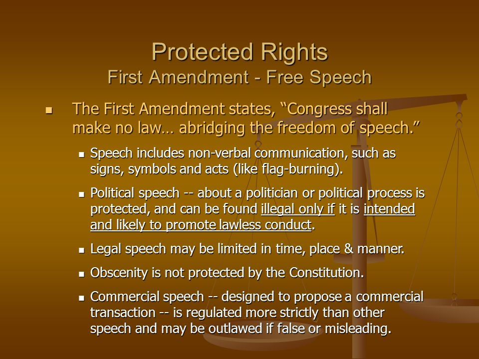 the issue of freedom of speech and the first amendment in the united states The exercise of its right to freedom of speech under the united states constitution  public-issue, public-service, and  (freedom of speech—first amendment.