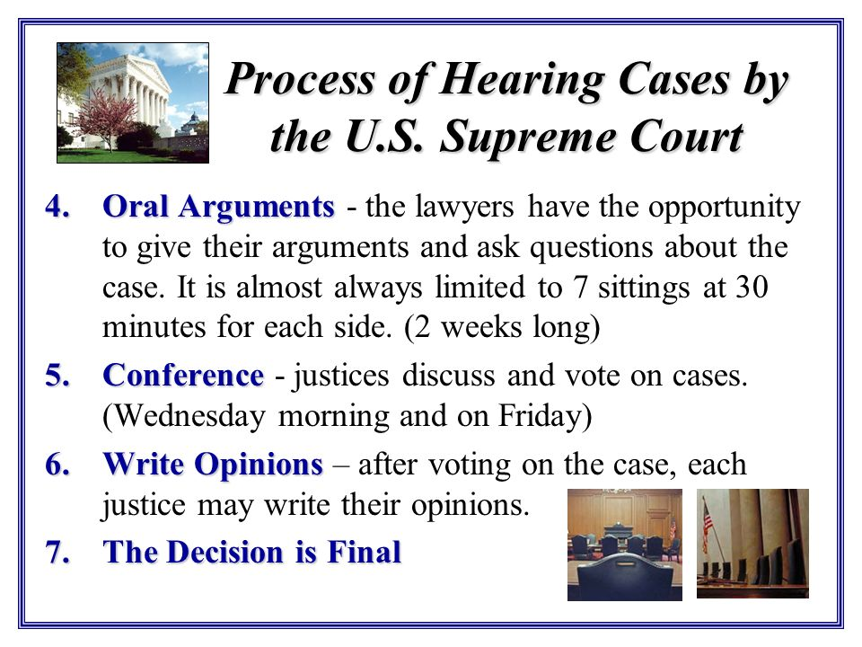 Process of Hearing Cases by the U.S. Supreme Court