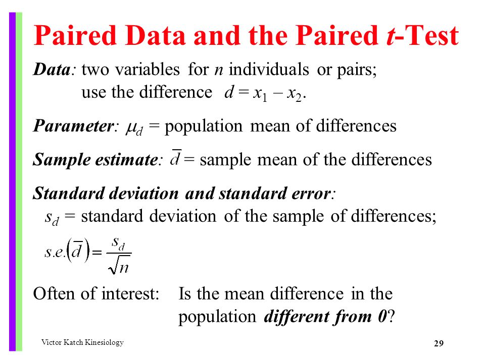 Paired Data and the Paired t-Test