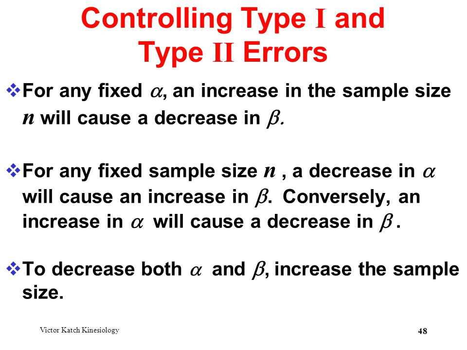 Controlling Type I and Type II Errors