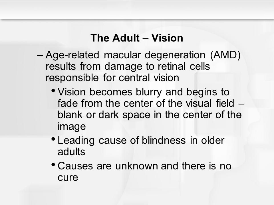 macular degeneration a group of diseases that result in a loss of detailed vision Click for a quick look at some of the most common eye diseases treated at aker eye vision  a group of eye problems that can result  macular degeneration.
