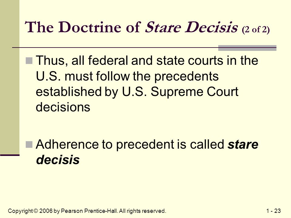 doctrine of precedent and stare decisis How stare decisis subverts the law the doctrine of stare decisis is not always to case precedent at common law thus resembled much more what we call.