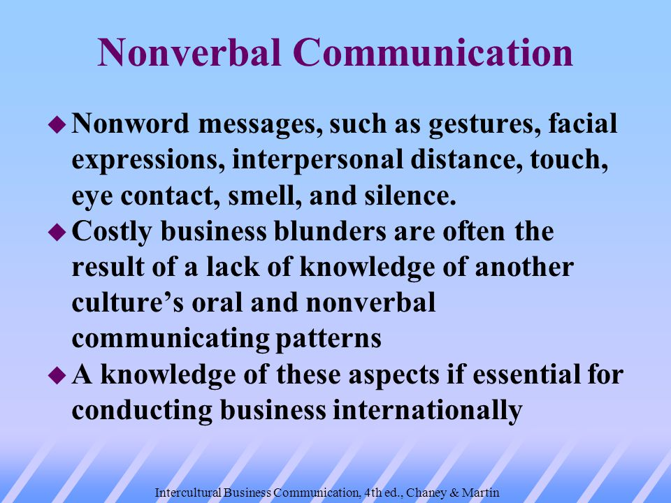 use of nonverbal communication in meetings The importance of nonverbal communication many examples of the use of nonverbal body language in are the true first impression in face-to-face meetings.