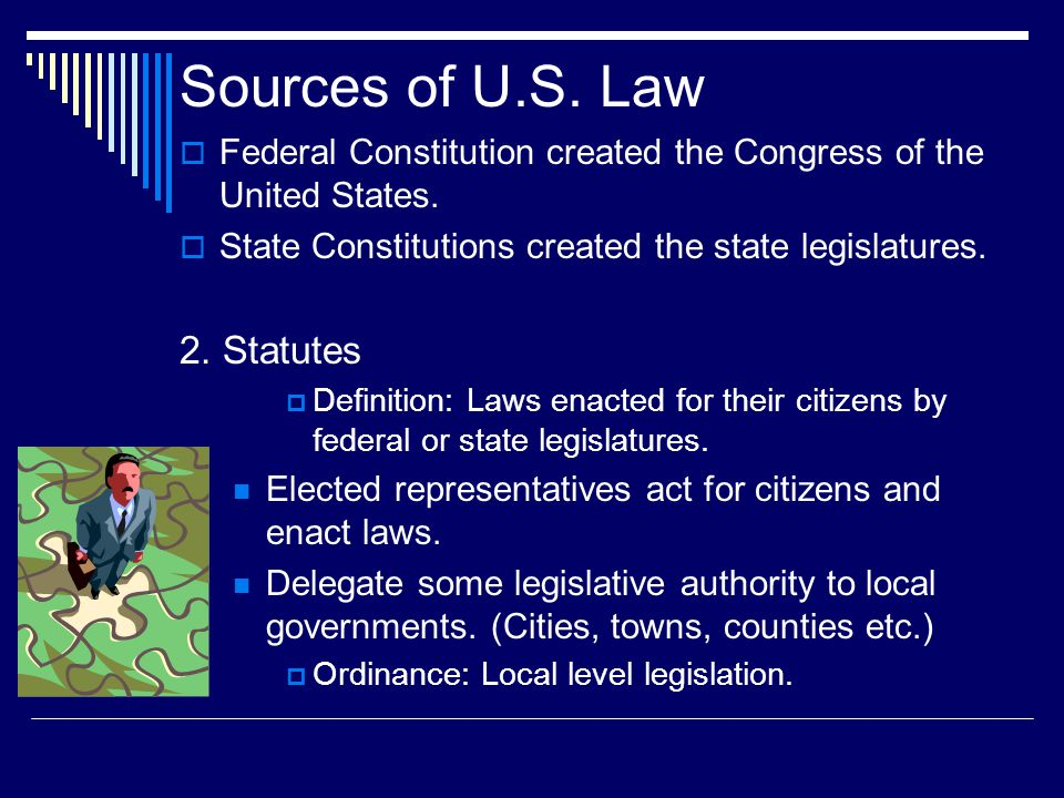 creation of u s laws Laws & guidance overview legislation, regulations, guidance, and other policy documents can be found here for the every student succeeds act (essa), and other topics please note that in the us, the federal role in education is limited.