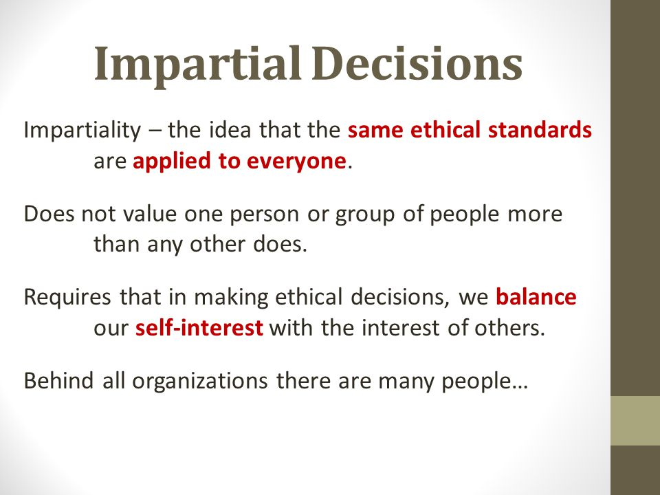 our ethical decisions are a result The result of the decision-making process should be  an organizational ethics decision-making process  but it's also a financial drain on our.
