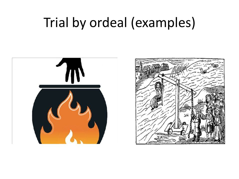 trial by ordeal brief Double jeopardy and appeal of dismissals: a  part i of this comment presents a brief history of the double jeop-  the ordeal of trial can itself be a form of.