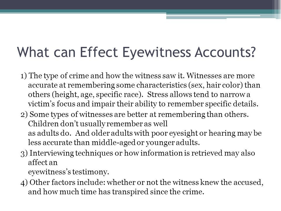 False Eyewitness