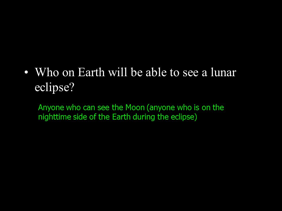 Three types of Lunar Eclipses