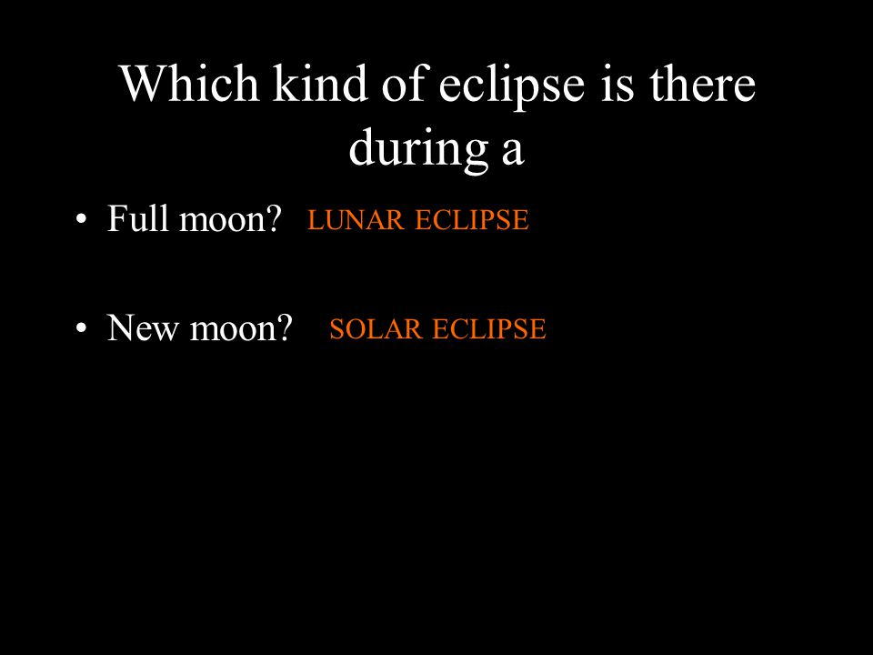 Which kind of eclipse is there during a