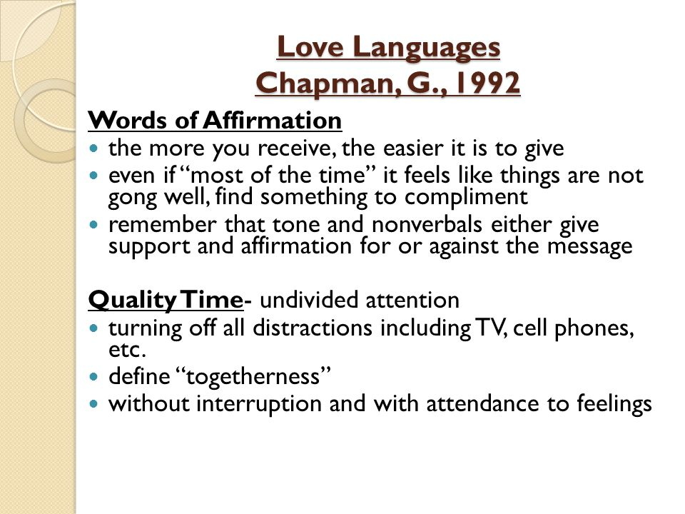 Of Love Words Definition Affirmation Language