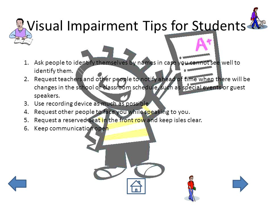 Classroom Design Tips For Visually Impaired ~ Disability nonlinear ppt download