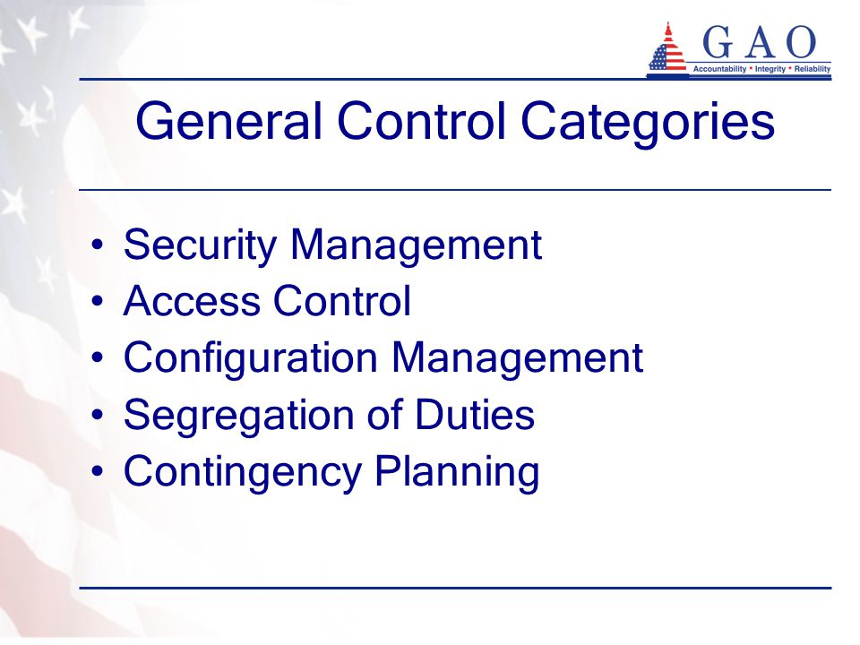General Control Categories