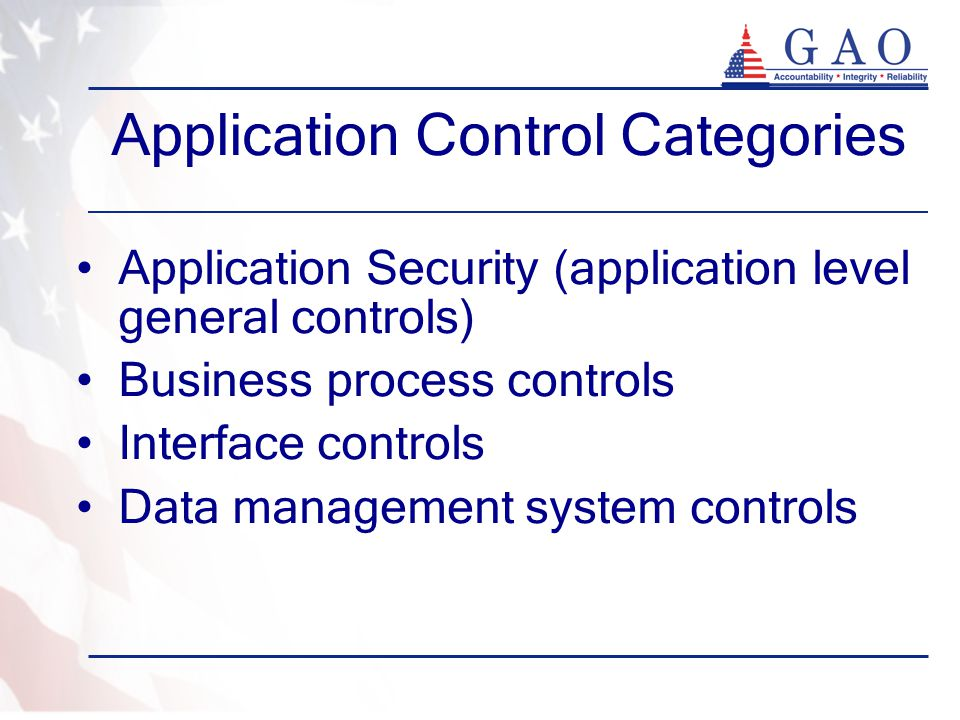 Application Control Categories