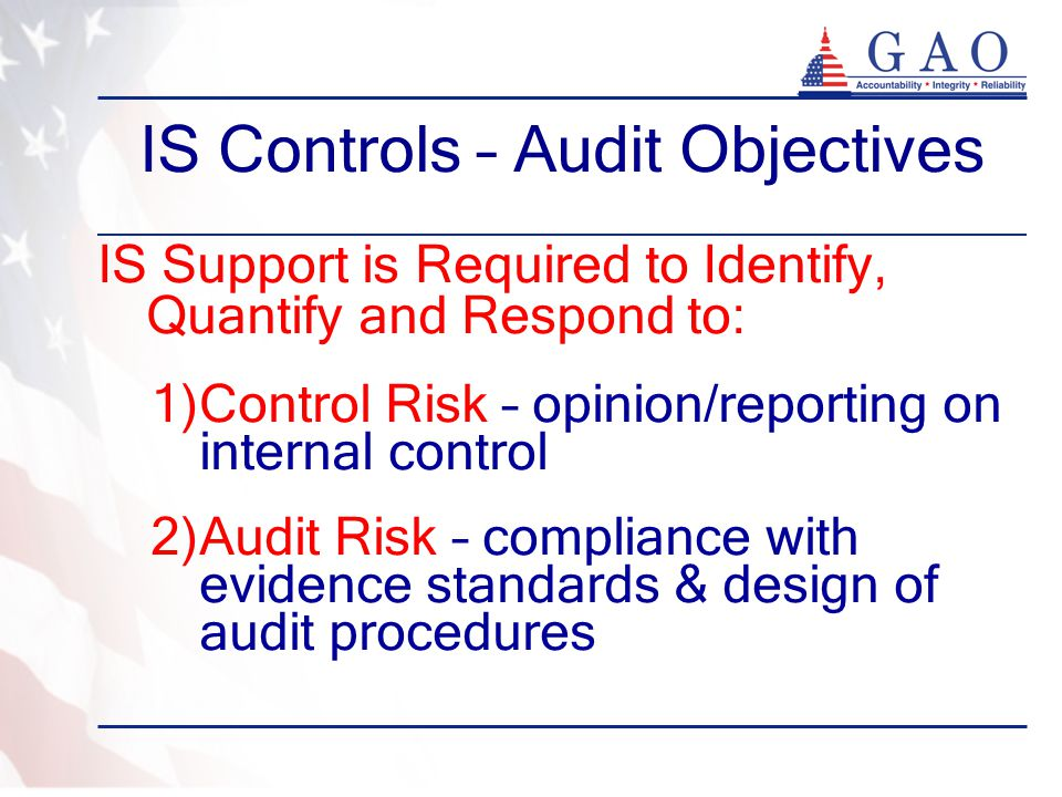 IS Controls – Audit Objectives