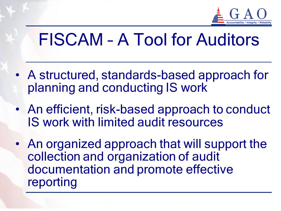 FISCAM – A Tool for Auditors