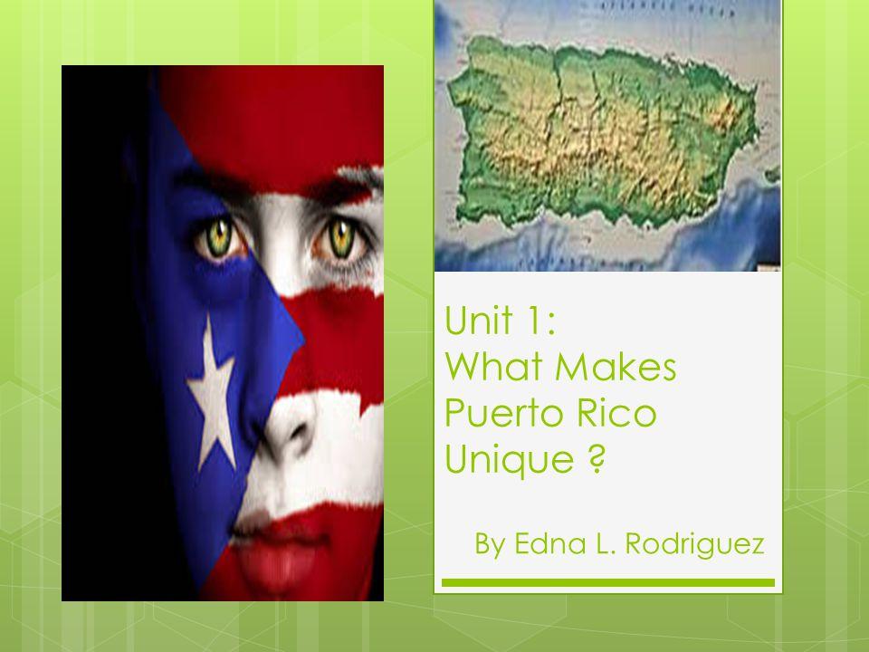 Unit 1: What Makes Puerto Rico Unique