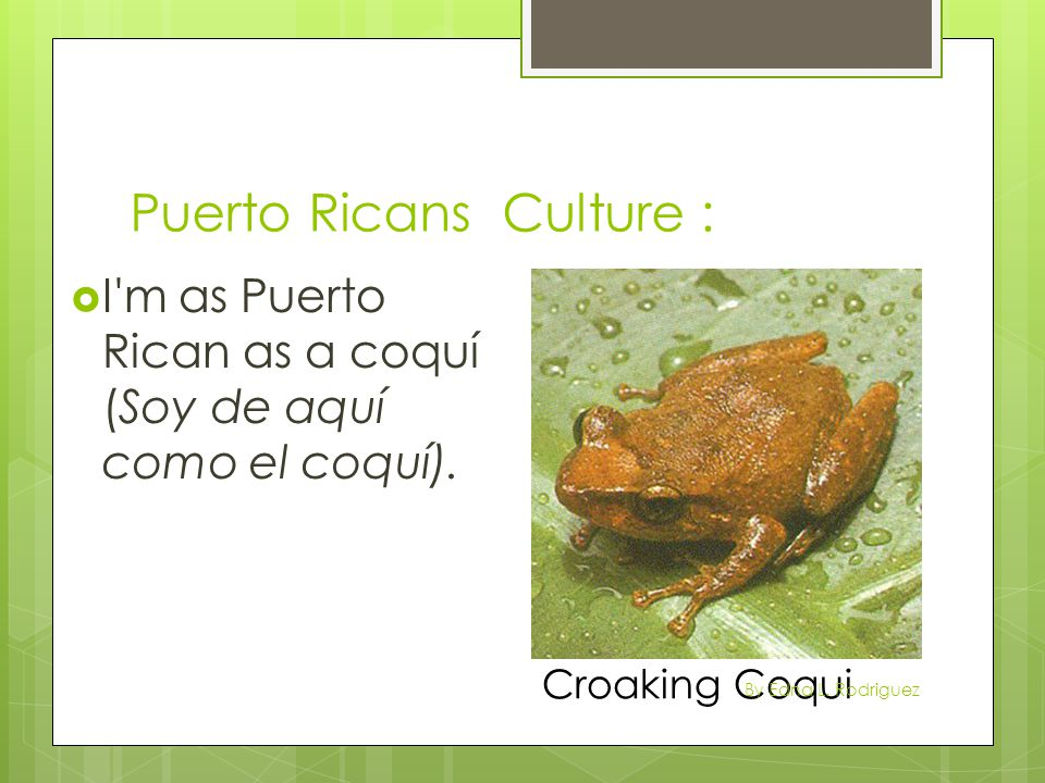 Puerto Ricans Culture :