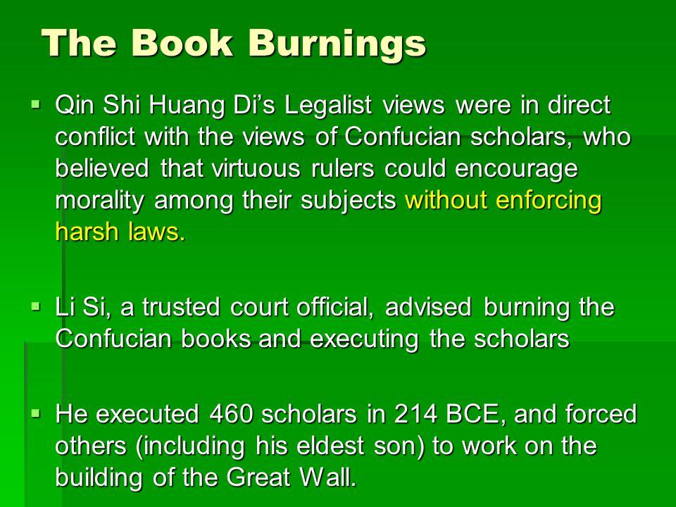 8 The Book Burnings Qin Shi Huang Dis