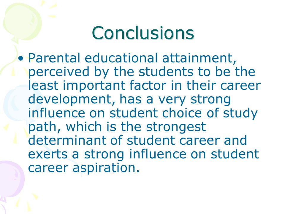 influence of parents in career choice essay There is parental pressure, peer pressure to conform to career choices but do   due to parental influence a child may feel pressurised to take up a particular.