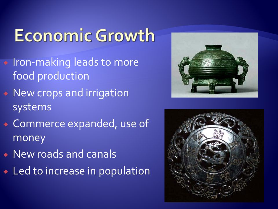 Economic Growth Iron-making leads to more food production
