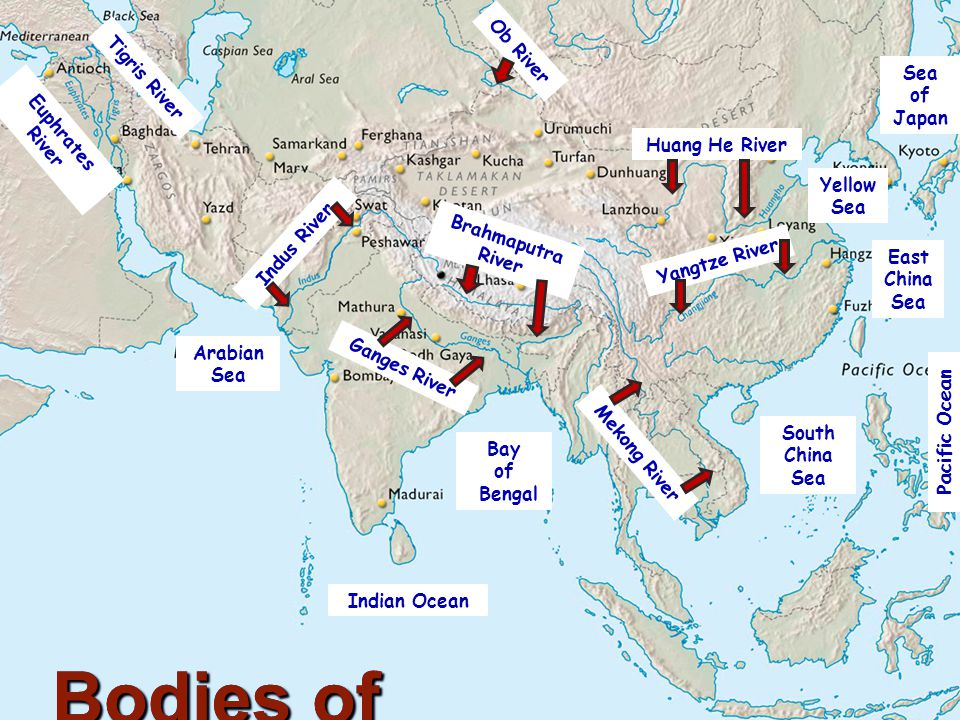 The Geography Of Asia Ppt Video Online Download - Ob river on world map