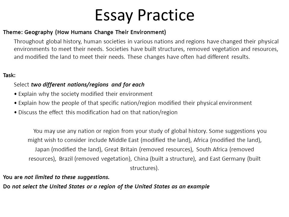 essay universal environmental changes