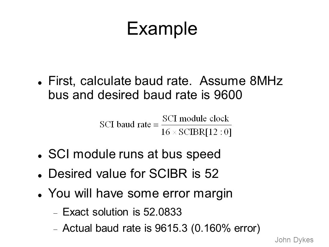 Serial communication interface ppt video online download - How to determine the baud rate of a serial port ...