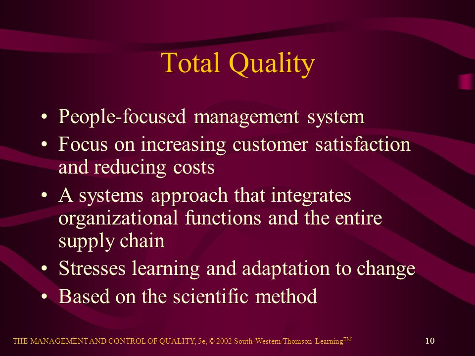 Total Quality People-focused management system
