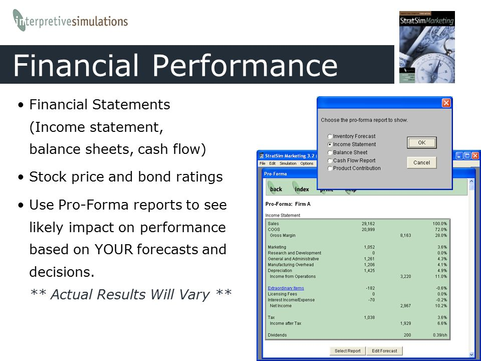 Accounting statements rarely report financial performance