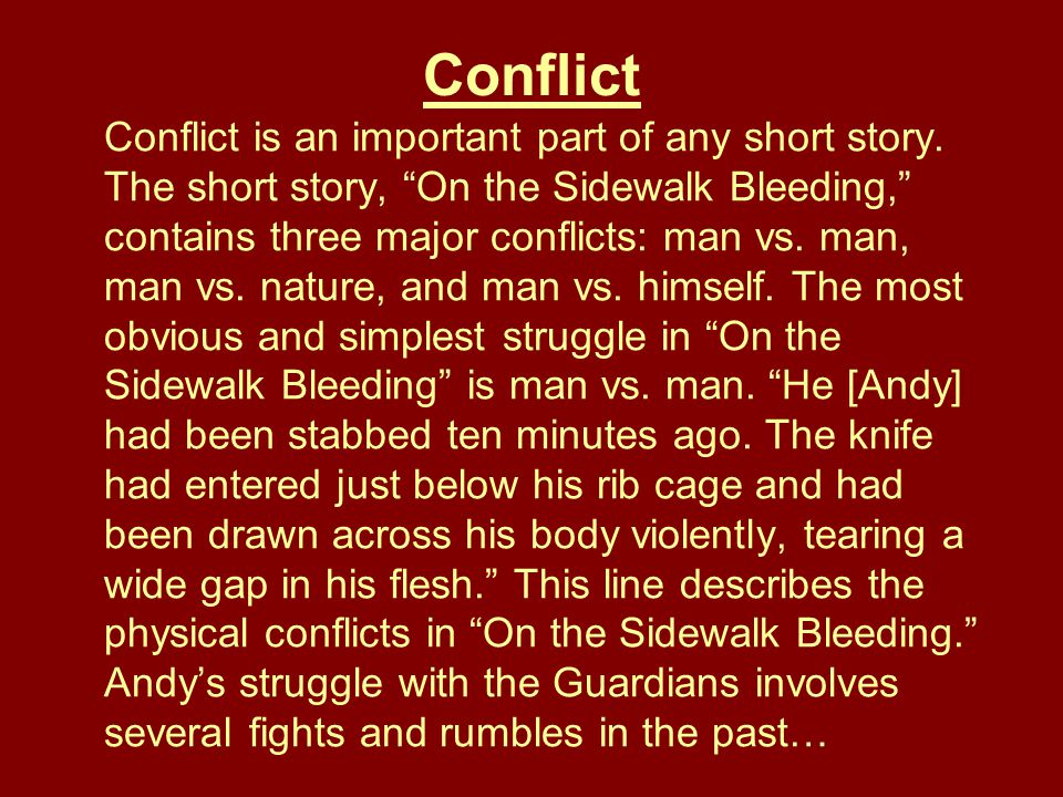 short stories ppt  24 conflict