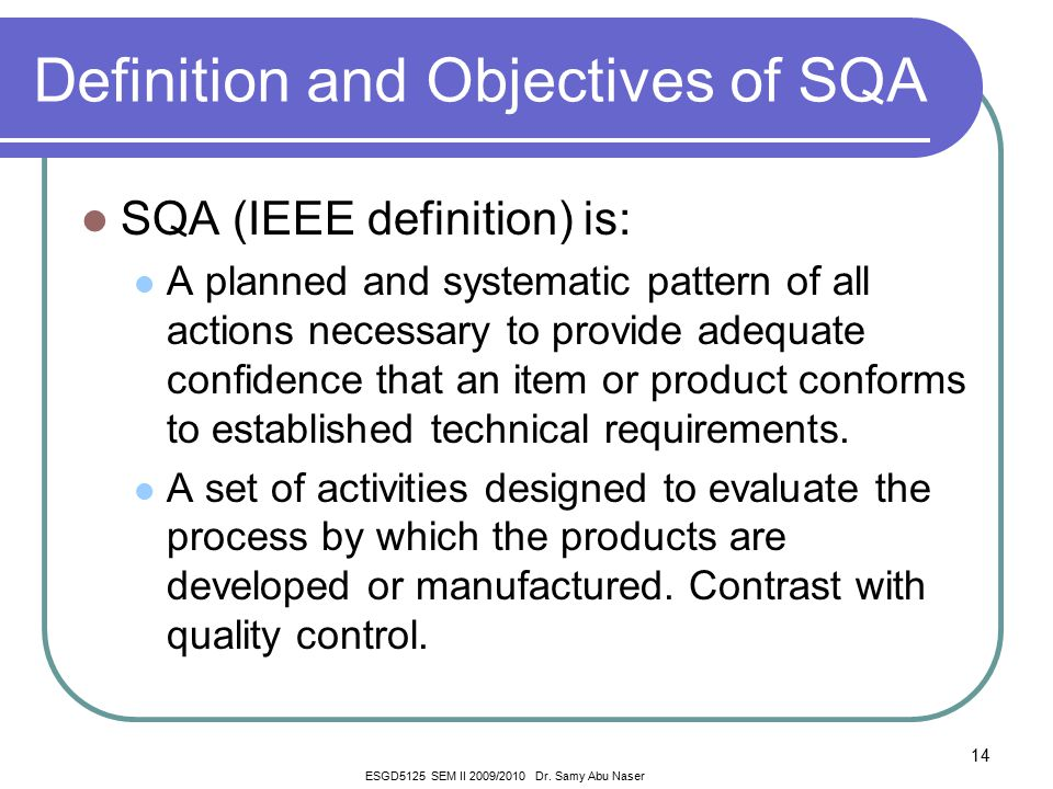 Chapter 1 introduction to sqa ppt video online download for Ieee definition