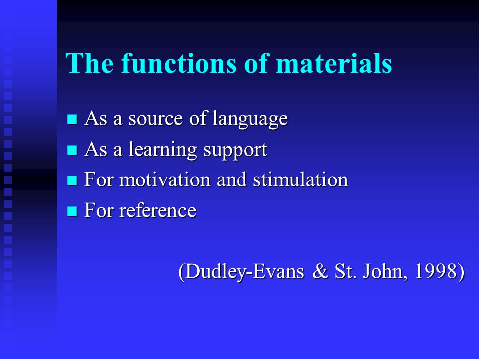 The functions of materials