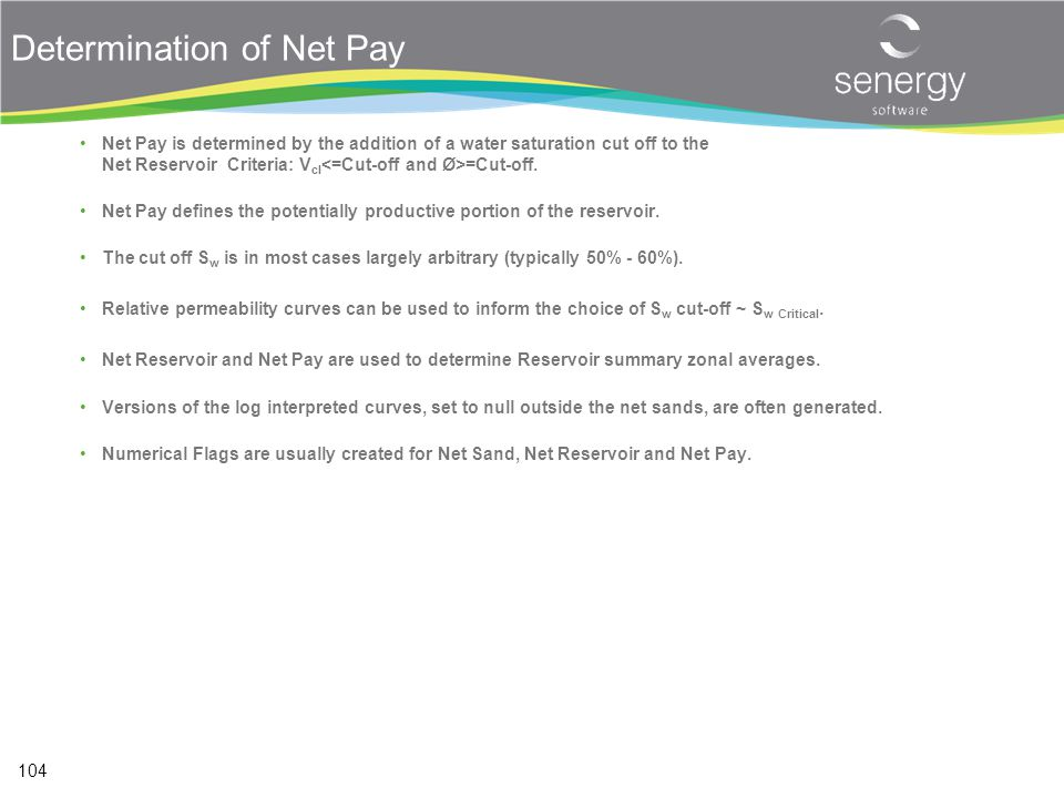 Determination of Net Pay